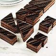 All chocolate strip cake