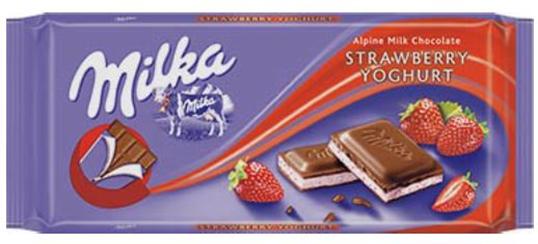 Milka chocolate Bar Strawberry Yoghurt