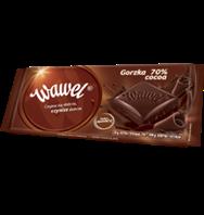 Wawel chocolate bar Dark Bitter 70% Cocoa