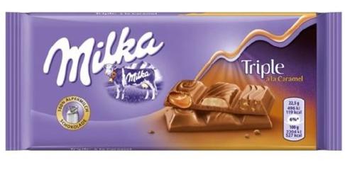 Milka chocolate Bar Triple Caramel