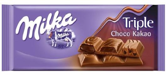 Milka chocolate Bar Triple Choco Cocoa