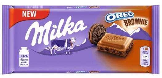 Milka chocolate Bar Oreo Choco Brownie