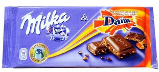 Milka chocolate Bar Daim