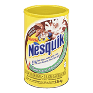 CHOCOLATE MILK MIX CANISTER