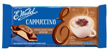 Wedel filled chocolate bar Milk Cappuccino